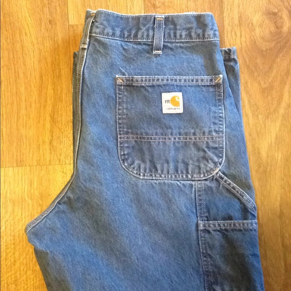 Columbia Straight Fit Work Jeans Mens Size 44 X 30  Blue Water Stain Repellent